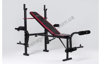 Регулируемая скамейка для тренировок HS-1075 + пул