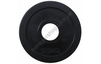 Черный диск олимпийский обрезиненный RCP11 2,5
