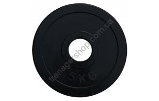 Черный диск олимпийский обрезиненный RCP11 5