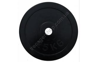 Черный диск олимпийский обрезиненный RCP11 25