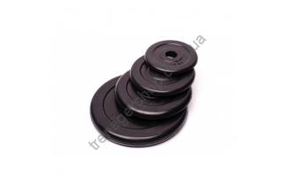 Черный диск обрезиненный RCP10-2.5 кг (26 мм)