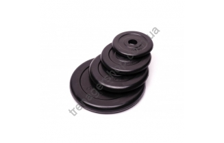 Черный диск обрезиненный RCP10-25 кг (26 мм)