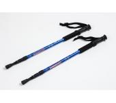 Треккинговые палки регулируемые Everest blue