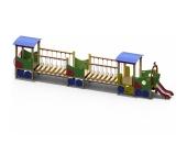 Локомотив с двумя вагонами