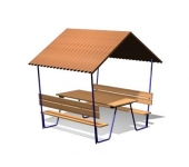 Навес со столом и скамейками DIO216