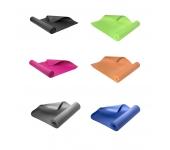 Коврик для йоги YM02 зеленый/оранжевый/серый/синий