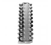 Гантельный ряд хром Apus от 1 до 10 кг + стойка