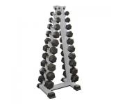 Гантельный ряд Fitness Master  1 до 10 кг + стойка