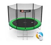 Батут Hop-Sport 10ft (305cm) green с внешней сетко