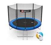 Батут Hop-Sport 10ft (305cm) blue с внешней сеткой