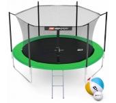 Батут Hop-Sport 10ft (305cm) green с внутренней се