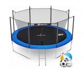 Батут Hop-Sport 12ft (366cm) blue с внутренней сет