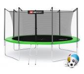 Батут Hop-Sport 14ft (427cm) green с внутренней се