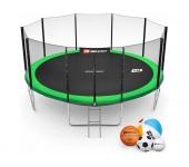 Батут Hop-Sport 16ft (488cm) green с внешней сетко